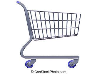 Stylized shopping cart