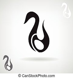 Stylized silhouette of a Swan.