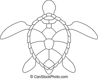 Stylized silhouette of a turtle.