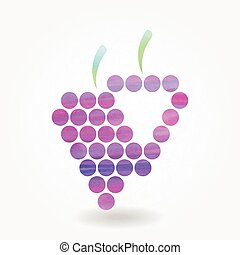 Stylized silhouette of purple grape