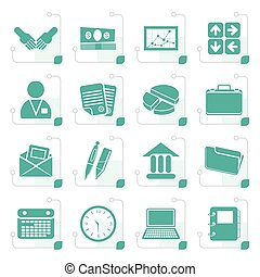 Stylized Simple Business and office icons