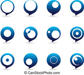 Stylized Speech Bubbles Icons