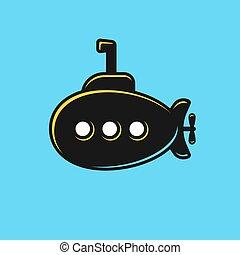 Stylized submarine illustration
