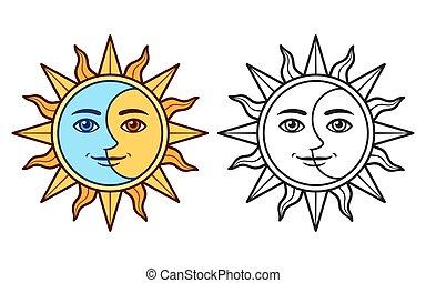 Stylized sun Illustrations and Stock Art. 12,116 Stylized ...