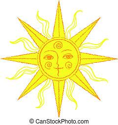 Stylized sun Illustrations and Stock Art. 11,975 Stylized ...