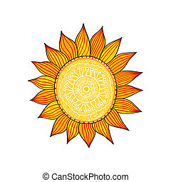 Stylized sun, vector