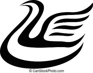Stylized swans image