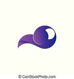 Stylized swirl icon design element