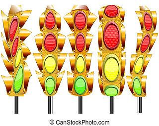 stylized traffic lights