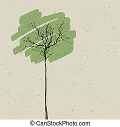 Stylized tree. Abstract background. Vector.