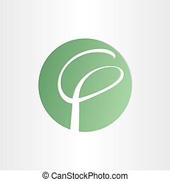 stylized tree abstract icon design