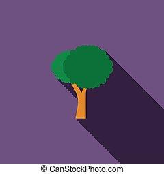 Stylized tree icon, flat style