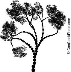 Stylized Tree Silhouette