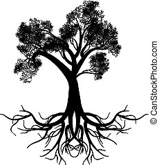 Stylized Tree Silhouette