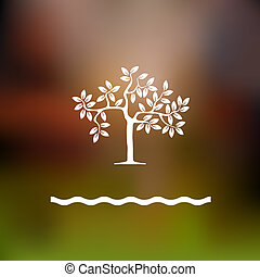 Stylized tree. Vector background