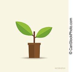 Stylized tree. Vector illustration.