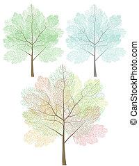 Stylized trees set