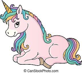 Stylized unicorn theme image 1