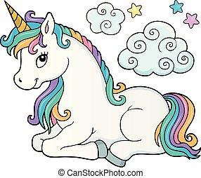 Stylized unicorn theme image 2