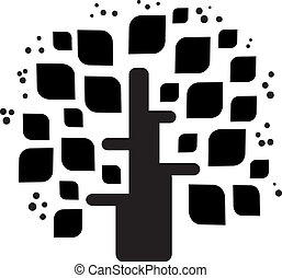 Stylized vector black tree