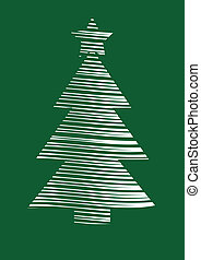 stylized vector Christmas tree