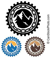 mining - Stylized vector illustration on the subject of ...