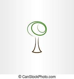 stylized vector tree illustration design element