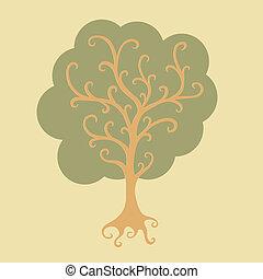 Stylized vector tree illustration