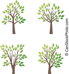 Stylized vector tree logo icon
