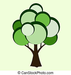 Stylized vector tree.