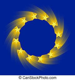 european union flag - stylized version of the european union...