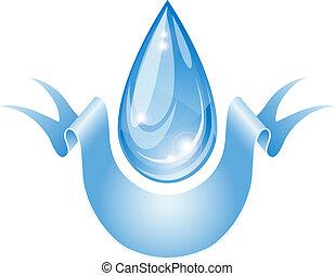 Stylized water drop.