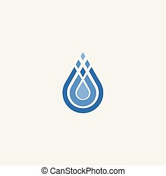 stylized water drop symbol vector