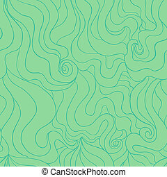 Stylized water seamless pattern - Vector seamless pattern...