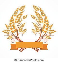 Stylized wheat wreath
