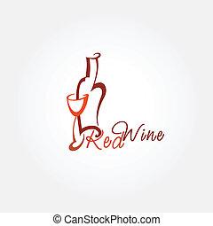 Stylized wine icon.