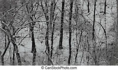 Stylized winter background