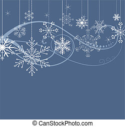 stylized winter background with snowflakes