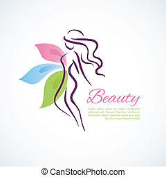 Stylized woman - Vector illustration of Stylized woman