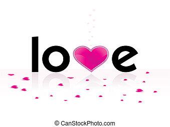Stylized word love