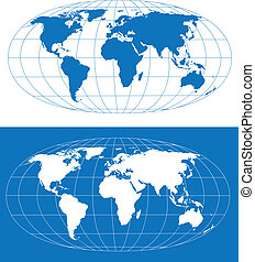 Stylized world map - High detailed world map. Vector eps8....