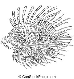 Lionfish Clipart and Stock Illustrations. 179 Lionfish ...