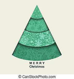 stylizowany, drzewo, boże narodzenie