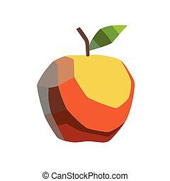 stylizowany, jabłko