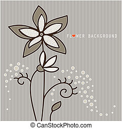 stylizowany, kwiaty