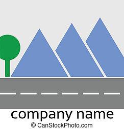 stylizowany, logo