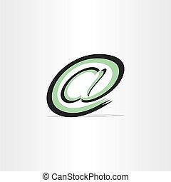 stylizowany, poczta, symbol, e, internet