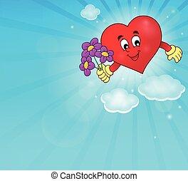 stylizowany, serce, temat, 1, wizerunek