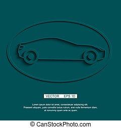 stylizowany, wóz, lekkoatletyka, coupe