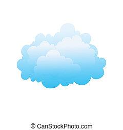 stylizowany, wizerunek, chmura